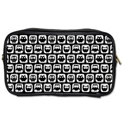Black And White Owl Pattern Toiletries Bags 2-Side