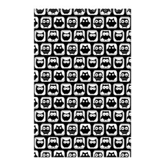 Black And White Owl Pattern Shower Curtain 48  X 72  (small)