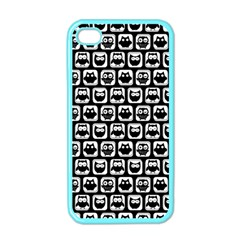 Black And White Owl Pattern Apple iPhone 4 Case (Color)
