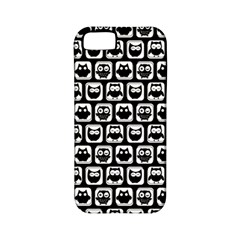 Black And White Owl Pattern Apple iPhone 5 Classic Hardshell Case (PC+Silicone)