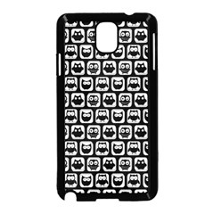 Black And White Owl Pattern Samsung Galaxy Note 3 Neo Hardshell Case (Black)
