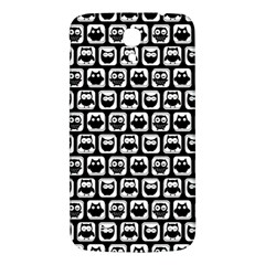 Black And White Owl Pattern Samsung Galaxy Mega I9200 Hardshell Back Case