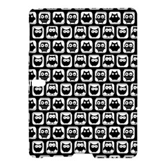 Black And White Owl Pattern Samsung Galaxy Tab S (10.5 ) Hardshell Case