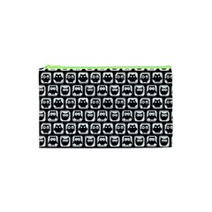 Black And White Owl Pattern Cosmetic Bag (XS)
