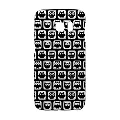 Black And White Owl Pattern Galaxy S6 Edge