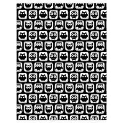 Black And White Owl Pattern Drawstring Bag (Large)
