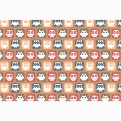Colorful Whimsical Owl Pattern Collage 12  X 18