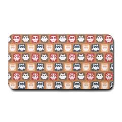 Colorful Whimsical Owl Pattern Medium Bar Mats