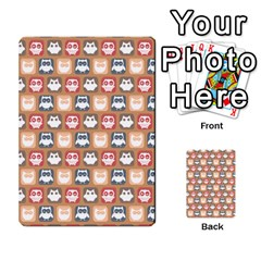 Colorful Whimsical Owl Pattern Multi-purpose Cards (Rectangle)