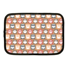 Colorful Whimsical Owl Pattern Netbook Case (Medium)