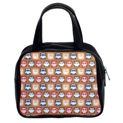 Colorful Whimsical Owl Pattern Classic Handbags (2 Sides)