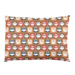 Colorful Whimsical Owl Pattern Pillow Cases