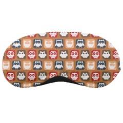 Colorful Whimsical Owl Pattern Sleeping Masks