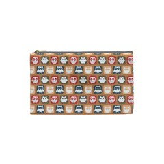 Colorful Whimsical Owl Pattern Cosmetic Bag (Small)