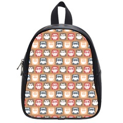 Colorful Whimsical Owl Pattern School Bags (Small)