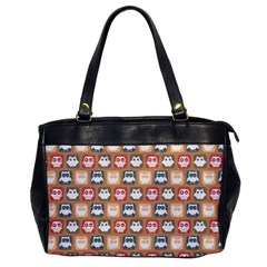 Colorful Whimsical Owl Pattern Office Handbags