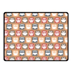 Colorful Whimsical Owl Pattern Fleece Blanket (Small)