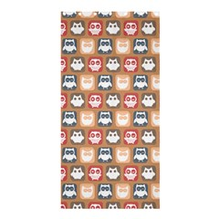 Colorful Whimsical Owl Pattern Shower Curtain 36  X 72  (stall)
