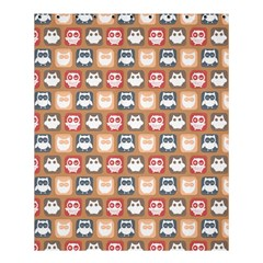 Colorful Whimsical Owl Pattern Shower Curtain 60  x 72  (Medium)