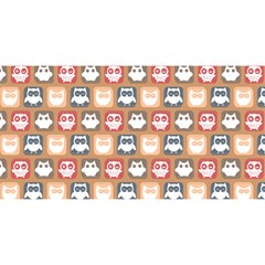 Colorful Whimsical Owl Pattern YOU ARE INVITED 3D Greeting Card (8x4)