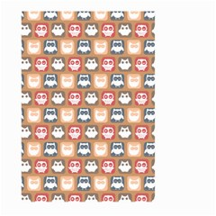 Colorful Whimsical Owl Pattern Large Garden Flag (two Sides)