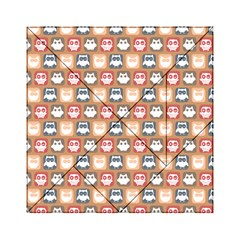 Colorful Whimsical Owl Pattern Acrylic Tangram Puzzle (6  x 6 )