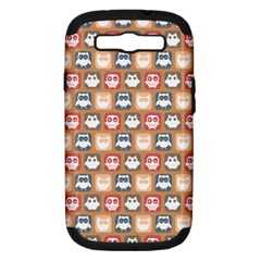 Colorful Whimsical Owl Pattern Samsung Galaxy S Iii Hardshell Case (pc+silicone)