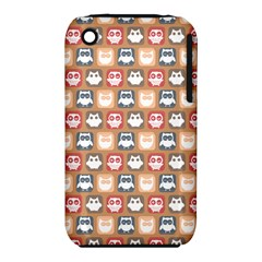 Colorful Whimsical Owl Pattern Apple iPhone 3G/3GS Hardshell Case (PC+Silicone)