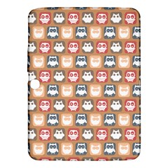 Colorful Whimsical Owl Pattern Samsung Galaxy Tab 3 (10.1 ) P5200 Hardshell Case
