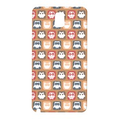 Colorful Whimsical Owl Pattern Samsung Galaxy Note 3 N9005 Hardshell Back Case