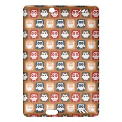 Colorful Whimsical Owl Pattern Kindle Fire HD (2013) Hardshell Case