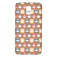 Colorful Whimsical Owl Pattern Samsung Galaxy S5 Back Case (White)