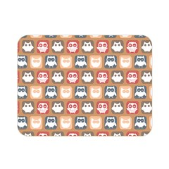 Colorful Whimsical Owl Pattern Double Sided Flano Blanket (mini)