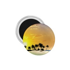 Beautiful Island In The Sunset 1.75  Magnets