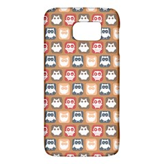 Colorful Whimsical Owl Pattern Galaxy S6