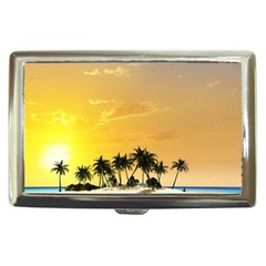 Beautiful Island In The Sunset Cigarette Money Cases