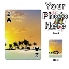 Beautiful Island In The Sunset Playing Cards 54 Designs