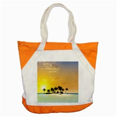 Beautiful Island In The Sunset Accent Tote Bag