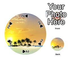 Beautiful Island In The Sunset Playing Cards 54 (Round)