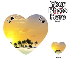 Beautiful Island In The Sunset Playing Cards 54 (Heart)
