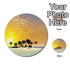 Beautiful Island In The Sunset Multi-purpose Cards (Round)