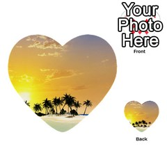 Beautiful Island In The Sunset Multi-purpose Cards (Heart)