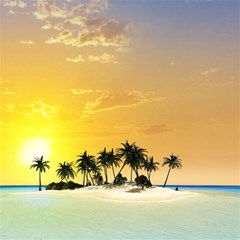 Beautiful Island In The Sunset Magic Photo Cubes