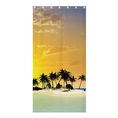 Beautiful Island In The Sunset Shower Curtain 36  X 72  (stall)