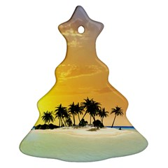 Beautiful Island In The Sunset Christmas Tree Ornament (2 Sides)