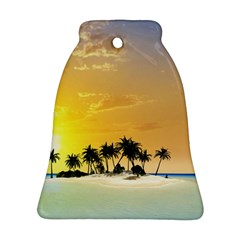 Beautiful Island In The Sunset Bell Ornament (2 Sides)