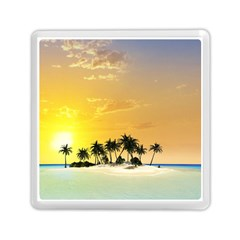 Beautiful Island In The Sunset Memory Card Reader (Square)