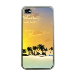 Beautiful Island In The Sunset Apple iPhone 4 Case (Clear)