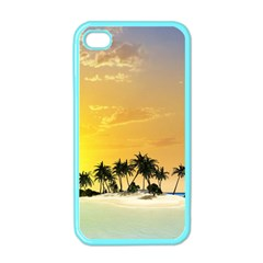 Beautiful Island In The Sunset Apple iPhone 4 Case (Color)