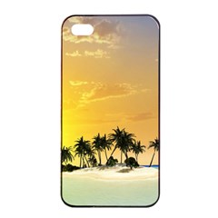 Beautiful Island In The Sunset Apple iPhone 4/4s Seamless Case (Black)